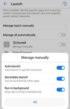 Huawei Settings : Schonell App