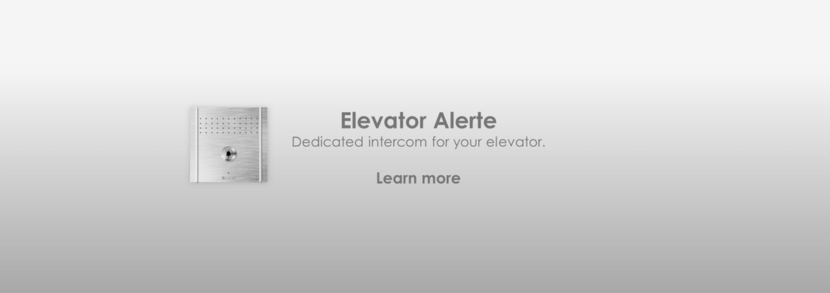 Elevator Alerte: Elevator intercom system | Audio | Backup | Analog | IP | Lift | Communication