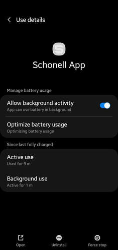 Schonell App Settings 1 | Google Play | Android