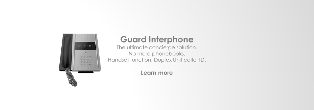 Interphone x1000: Guard Intercom system | Handset | Unit ID Protection | Full Duplex | caller ID | Stereo audio | Loudspeaker