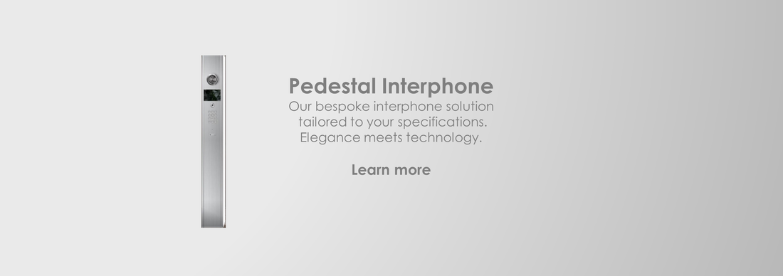 Pedestal Interphone: Residential building intercom: Bungalows | Mansions | Office | Buildings | Apartments | Singapore